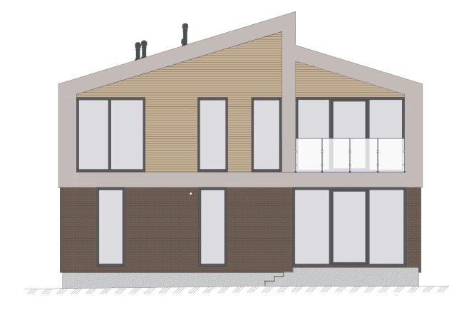Двухэтажный жилой дом Фасад дворовой